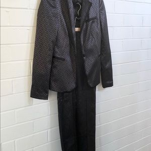 Smart Set Full Printed Suit XS Blazer Pants BNWT